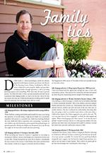 Profile Magazine Milestones Article January 2013